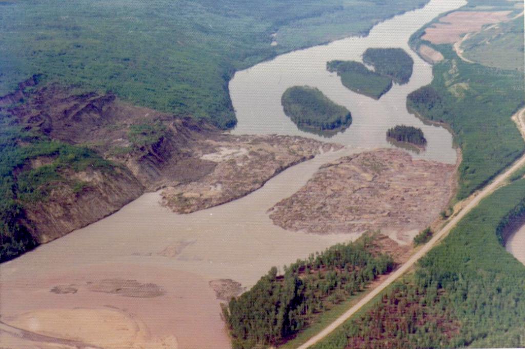 Attachie Slide, Peace River, 1973
