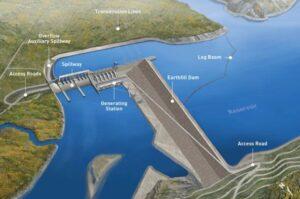 Site C L-shaped dam design